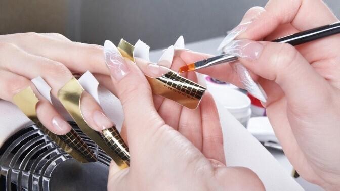 Фото пошаговое наращивания ногтей