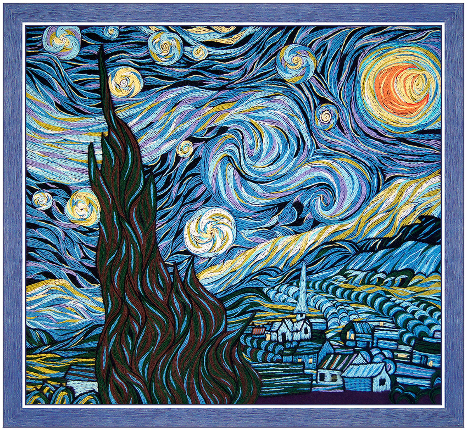 1088 Ван Гог «Звёздная ночь - Мир Вышивки 61