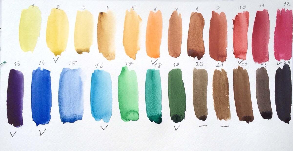 Сепия акварель цвет шнур белый хлопок